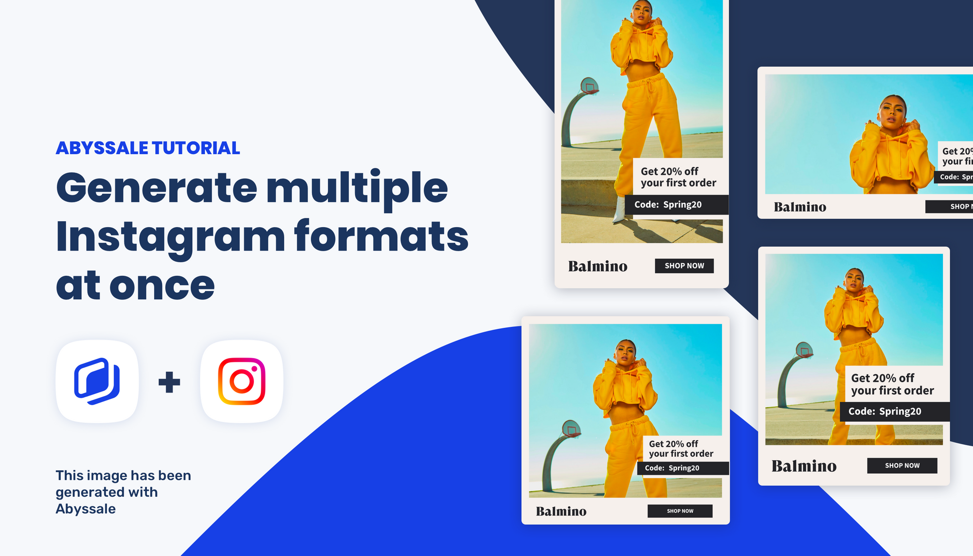 How to Automatically generate multiple Instagram formats at once using Abyssale