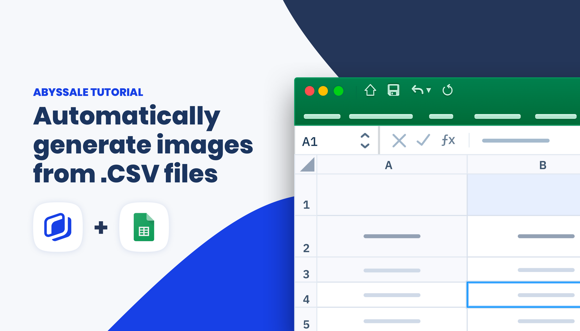 Automatically create images from a CSV using Abyssale
